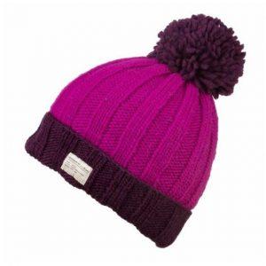 757165517b5 Kusan Ribbed Bobble Hat – Pink Purple
