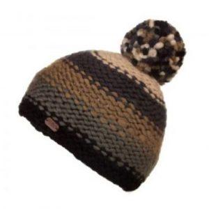 86f6932680c Kusan Thick Yarn Bobble Hat – Black Grey